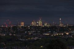 Londres par Night Centre de la ville photos libres de droits