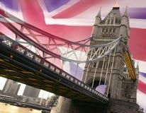 Londres - passerelle de tour Image libre de droits