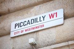 Londres Piccadilly Photographie stock libre de droits