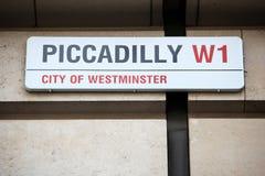 Londres Piccadilly Imagen de archivo libre de regalías