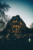 Londres por la tarde Luces de la ciudad Imagen de archivo libre de regalías