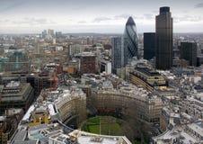 Londres que olha do leste de CityPoint, março 2004 Imagem de Stock Royalty Free