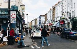 Londres, R-U - 2ème d'avril 2017 Voisinage de Notting Hill et c Photos libres de droits