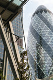 Londres, R-U - 31 août 2016 : Ville de vue de Londres Secteur international d'affaires et d'opérations bancaires Photos stock