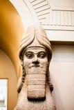 LONDRES, R-U, décorations de BRITISH MUSEUM des palais assyriens Photos stock