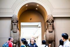 LONDRES, R-U, décorations de BRITISH MUSEUM des palais assyriens Photo libre de droits