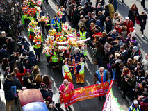 LONDRES, R-U - 14 FÉVRIER 2016 : Enfants chinois de nouvelle année en Chin Photo stock