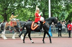 Londres, R-U 6 juillet, soldat de la garde royale, le 6 juillet 2015 à Londres Image libre de droits