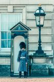 05/11/2017 Londres, R-U, la garde de palais de Buckingam photographie stock libre de droits
