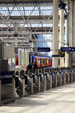 LONDRES, R-U - 14 mai 2014 - station d'international de Waterloo Photos stock