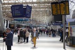 LONDRES, R-U - 14 mai 2014 - station d'international de Waterloo Photo stock