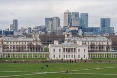 Londres, R-U - vers en mars 2012 : La Chambre, Greenwich, île des chiens et Canary Wharf de la Reine Photo libre de droits