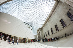 29 07 2015, LONDRES, R-U - vue de British Museum et détails Images libres de droits