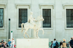 LONDRES, R-U - vue de British Museum et détails Images stock