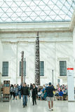 LONDRES, R-U - vue de British Museum et détails Photographie stock libre de droits