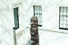 LONDRES, R-U - vue de British Museum et détails Image stock