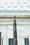 LONDRES, R-U - vue de British Museum et détails Photographie stock