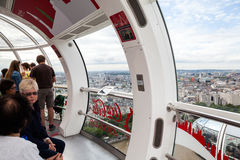 22 07 2015, LONDRES, R-U Vue de Londres d'oeil de Londres Photographie stock libre de droits