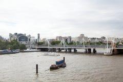 Londres, R-U Vue panoramique de Londres d'oeil de Londres Photos stock