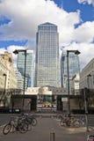 LONDRES, Reino Unido - CANARY WHARF, el 22 de marzo de 2014 avenida del oeste de la India Fotografía de archivo libre de regalías