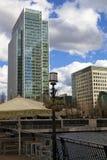 LONDRES, REINO UNIDO - CANARY WHARF, O 22 DE MARÇO DE 2014 Imagens de Stock Royalty Free