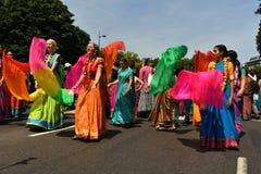 24/06/2018 Londres Reino Unido Colores preciosos en las calles Imágenes de archivo libres de regalías