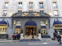 O hotel de Ritz onde Margaret Thatcher morreu Imagens de Stock