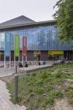 LONDRES, REINO UNIDO - 6 DE AGOSTO DE 2018: Pátio exterior da entrada do museu do projeto foto de stock