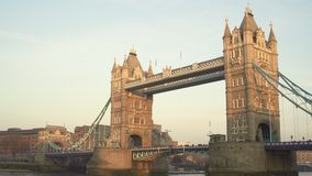 Londres, Reino Unido 19 de enero de 2017 Copie el fondo del espacio del puente de la torre Con los pájaros almacen de metraje de vídeo