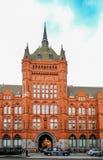 Londres, Reino Unido - 31 de maio de 2017: Construção de prudência da segurança na elevação foto de stock royalty free