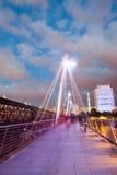 30 07 2015, LONDRES, Reino Unido, Londres en el amanecer Visión desde el puente de oro del jubileo Fotografía de archivo libre de regalías