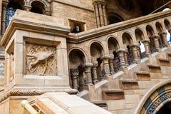 LONDRES, Reino Unido, museo de la historia natural - edificio y detalles Fotos de archivo libres de regalías