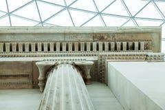 LONDRES, Reino Unido - opinião de British Museum e detalhes Imagens de Stock Royalty Free
