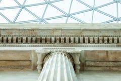 LONDRES, Reino Unido - opinião de British Museum e detalhes Foto de Stock