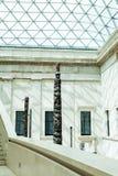 LONDRES, Reino Unido - opinión de British Museum y detalles Imagen de archivo libre de regalías