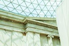 LONDRES, Reino Unido - opinión de British Museum y detalles Fotos de archivo libres de regalías