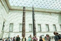 LONDRES, Reino Unido - opinión de British Museum y detalles Imágenes de archivo libres de regalías