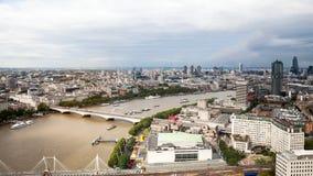 Londres, Reino Unido Vista panorámica de Londres del ojo de Londres Foto de archivo
