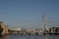 Londres/roda do milênio fotografia de stock