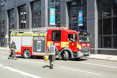 Londres, Royaume-Uni - 25 août 2017 : Sapin de services des urgences photo stock