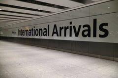 Londres, Royaume-Uni - 12/19/2017 : Terminal du ` s de Londres Heathrow Image stock