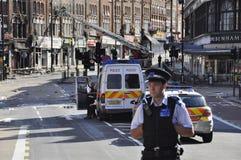 Londres s'ameute la conséquence, jonction de Clapham Photo libre de droits