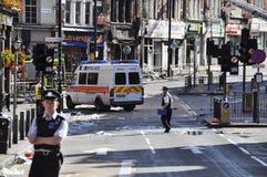 Londres s'ameute la conséquence, jonction de Clapham Images libres de droits