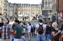 Londres s'ameute la conséquence, jonction de Clapham Photos libres de droits