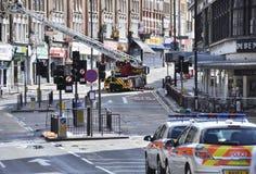 Londres s'ameute la conséquence, jonction de Clapham Photos stock