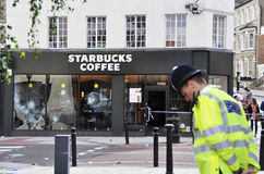Londres s'ameute la conséquence, jonction de Clapham Images stock