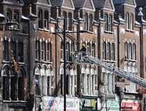 Londres se desenfrena las consecuencias, ensambladura de Clapham Imagen de archivo libre de regalías