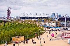 Londres se prepara: Acontecimientos olímpicos de la prueba Foto de archivo