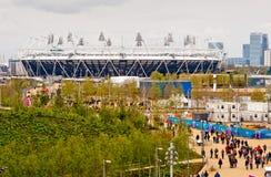 Londres se prepara: Acontecimientos olímpicos de la prueba Imagen de archivo