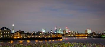 Londres, skyline de Canary Wharf Foto de Stock Royalty Free